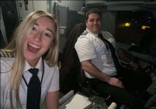 Alexandra Orr and Derek Boreman fly for Republic Airways