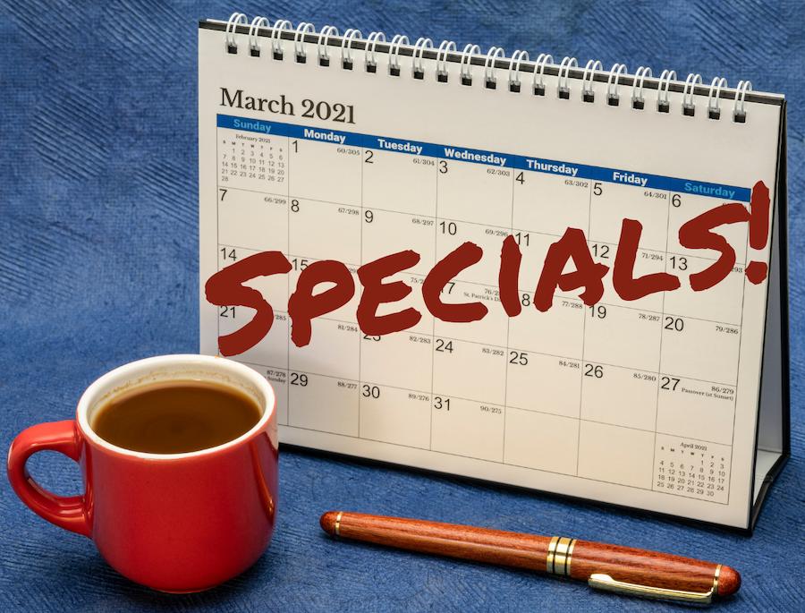March 2021 Specials