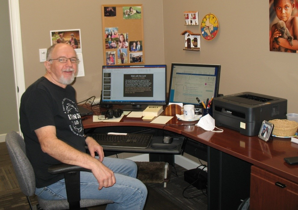 Steve in office