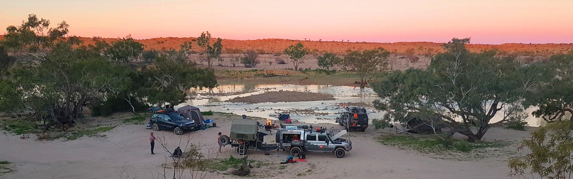 Eyre Creek in the Simpson Desert