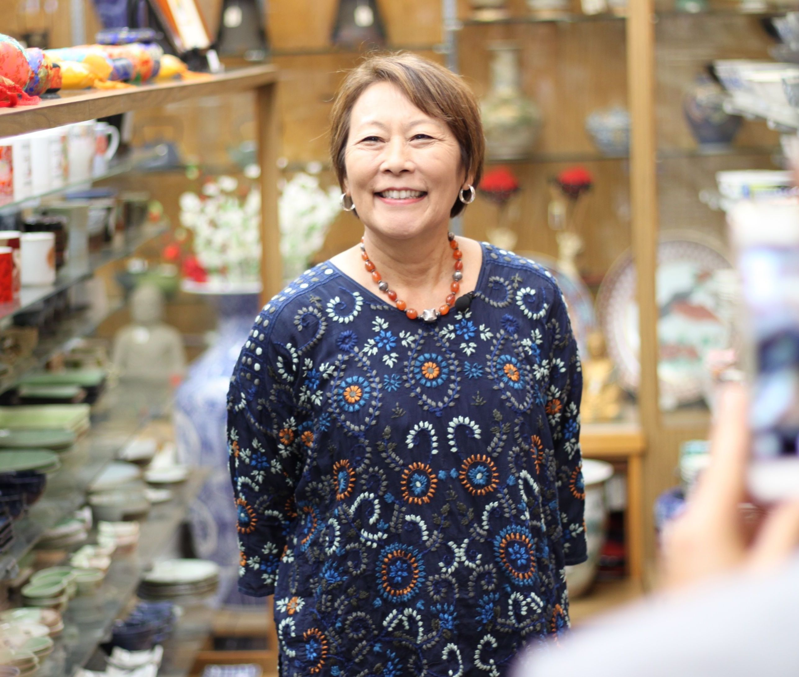 Irene Simonian, owner of Bunkado stands in her store