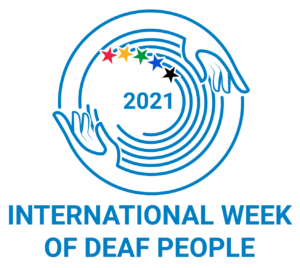 International Week of Deaf People 2021 logo