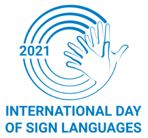 2021 International Day of Sign Languages logo