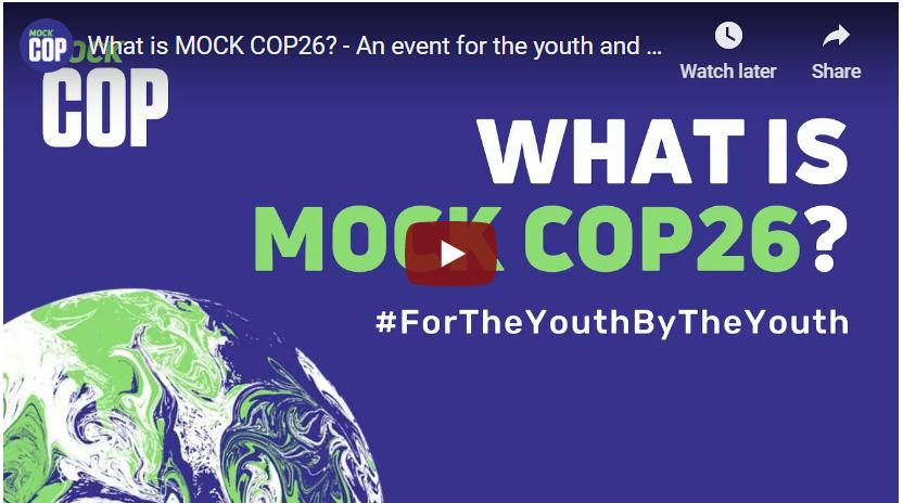 """Snapshot of """"Mock COP26"""" Youtube video"""