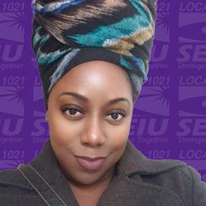 Alyssa Jones-Garner -  an SEIU Local 1021 Member-leader, Shop Steward, political organizer and, community activist from San Francisco