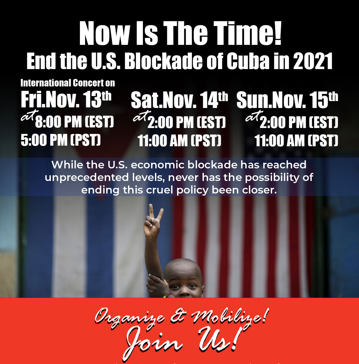 Now is the time! International Conference Webinar for US-Cuba Normalization