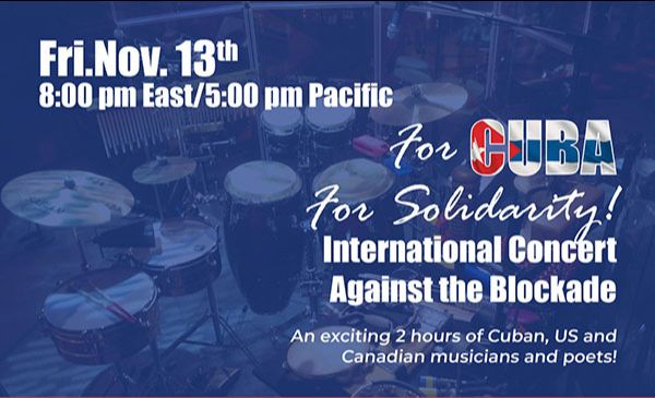 For Cuba! For Solidarity! International Concert Against the Blockade