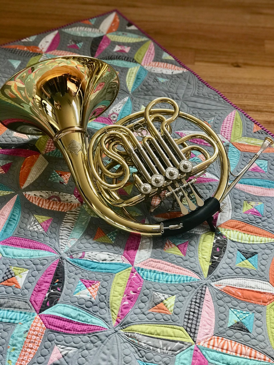 horn and quilt