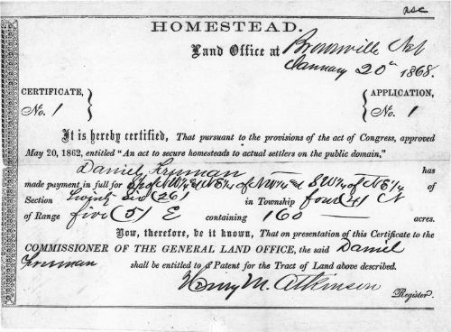 Today is Wednesday, May 20th, 2020 ... If your ancestors migrated out West in the 19th Century they may very well have been homesteaders