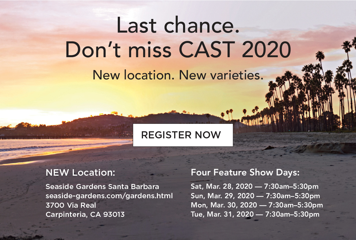 Last Chance to Register for CAST2020