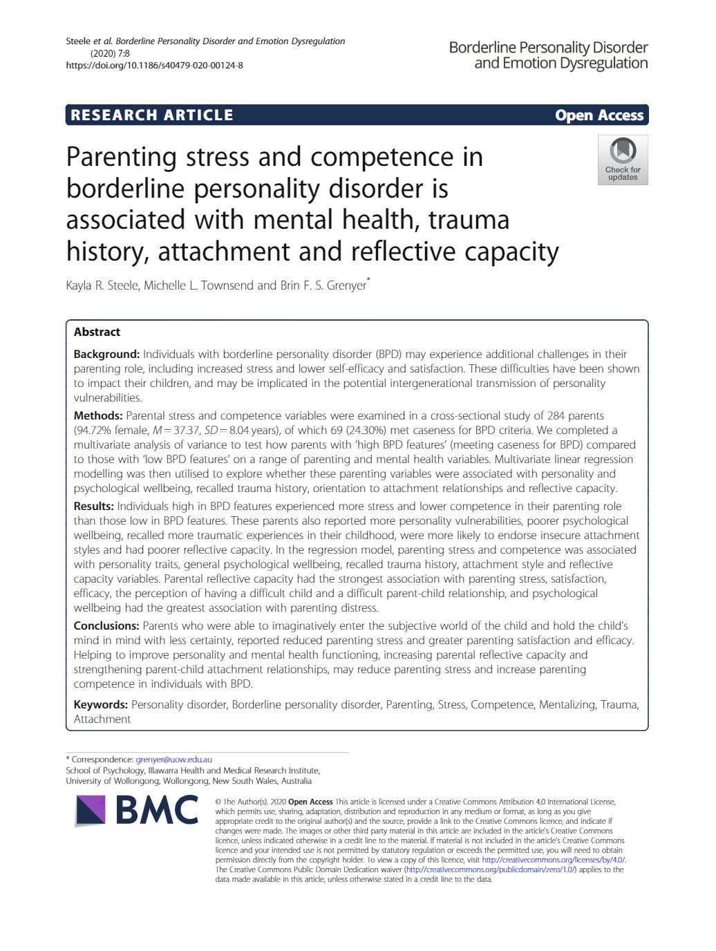 Parenting & BPD