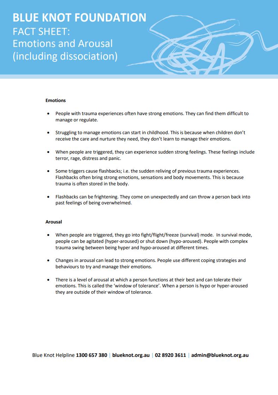 Blue Knot factsheet