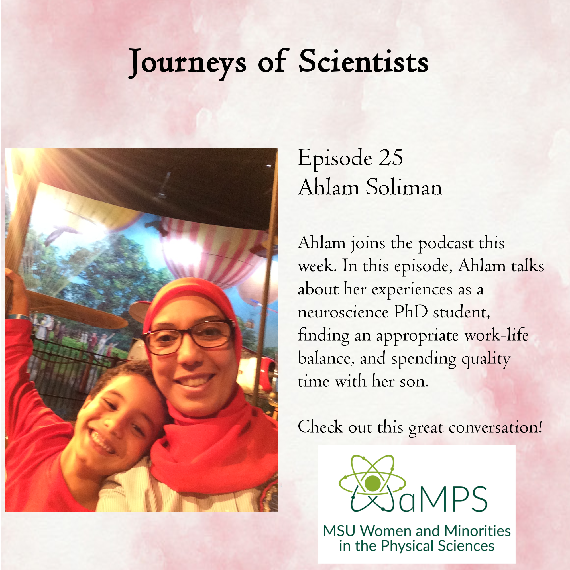 Ahlam Soliman is a fourth year PhD student in the Neuroscience program at Michigan State University. Her research focuses on studying the pathological culprit of Alzheimer disease using experimental models.