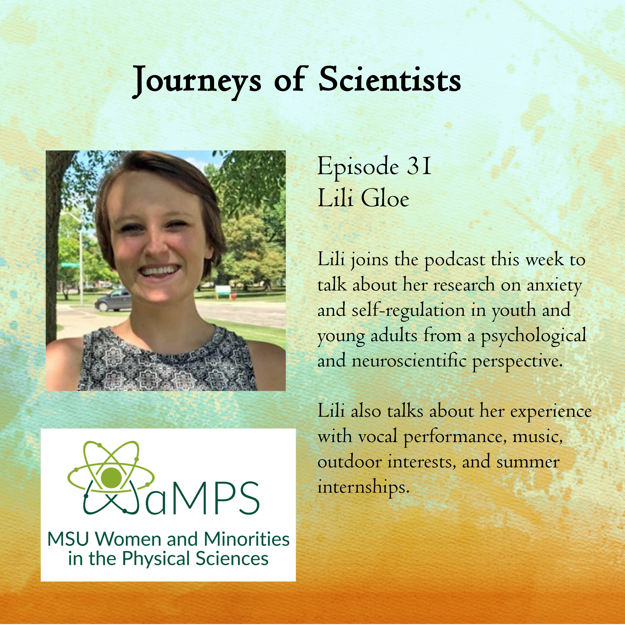 Lili is a 5th year graduate student in the Clinical Psychology Doctoral Program at Michigan State University. She researches anxiety and self-regulation in youth and young adults from a psychological and neuroscientific perspective.