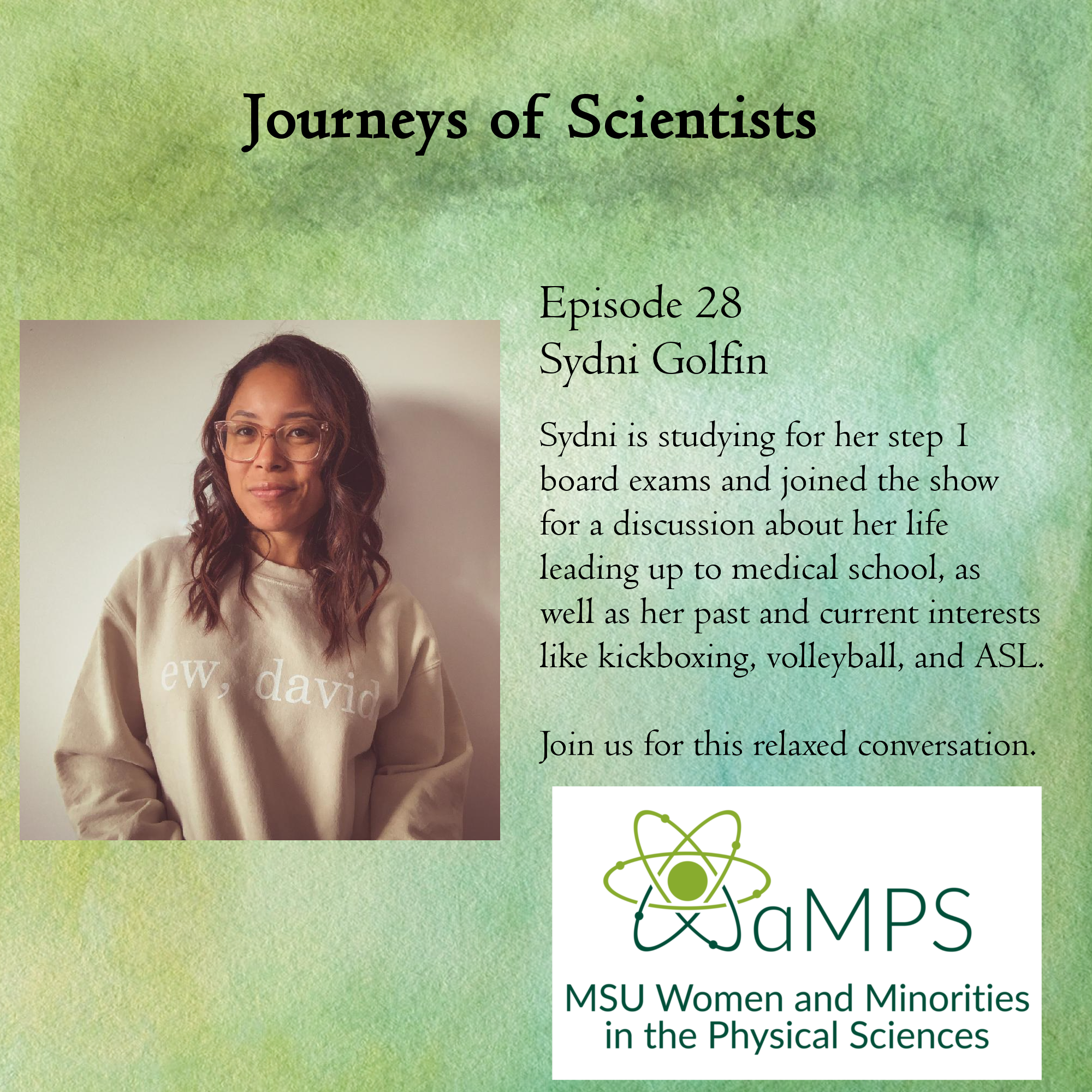 Sydni is an incoming 3rd year medical student at MSUCOM currently studying for her Level 1/Step 1 board exams. She will begin her rotations at Garden City Hospital later this summer with interests in women's health and community medicine.