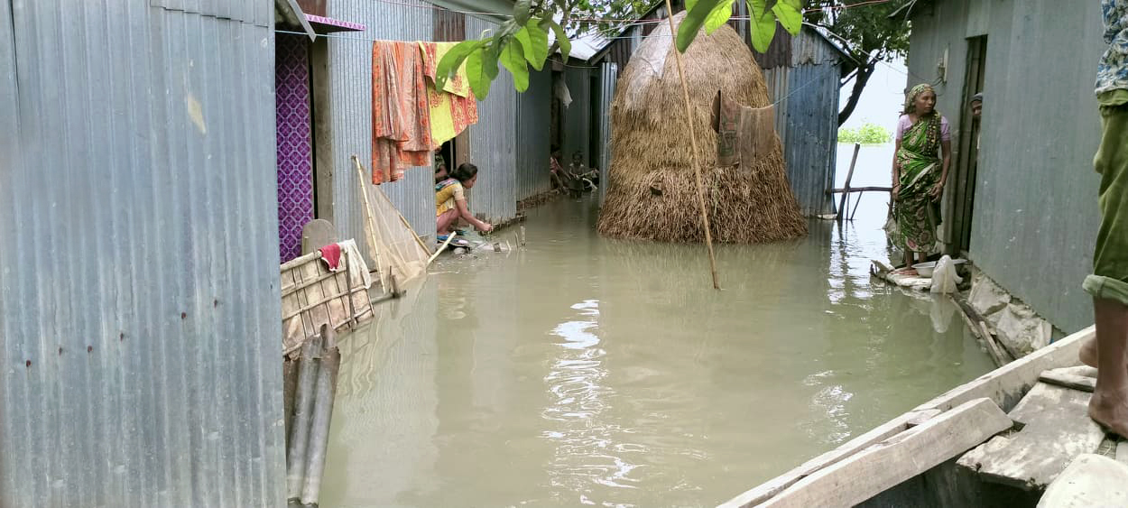 An extreme-poor household in the flood