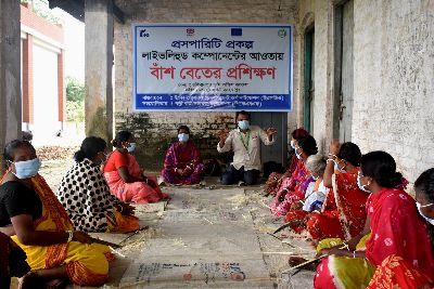 Training on livelihood activities