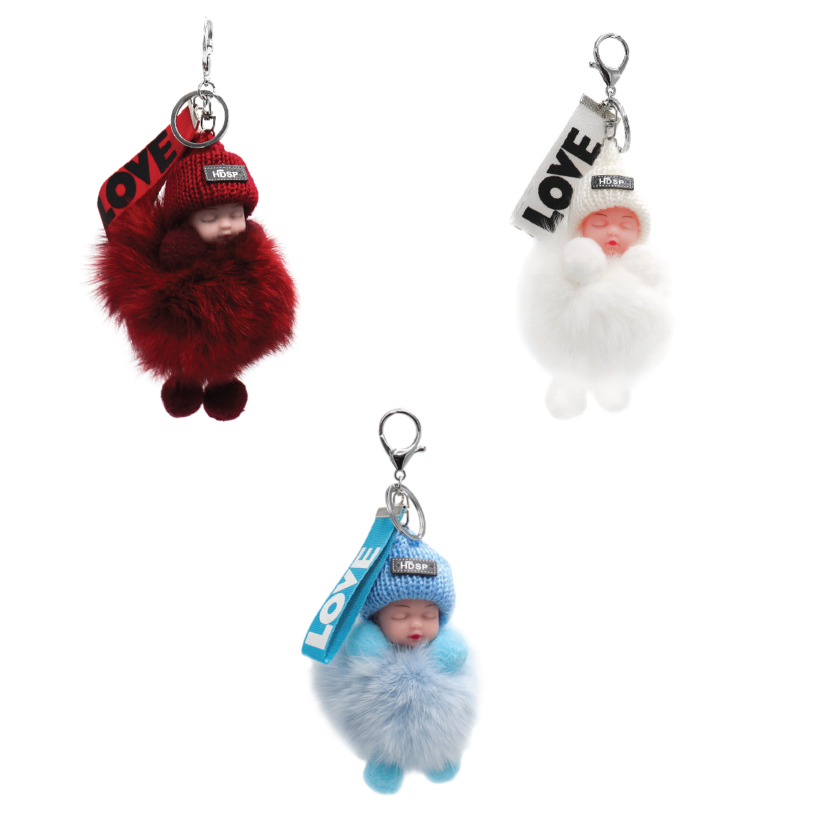 Fox Fur Baby Keychain