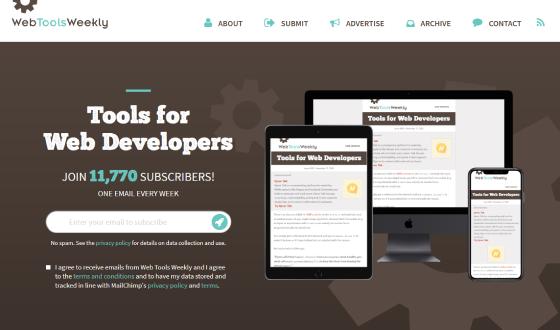 Web Tools Weekly redesign