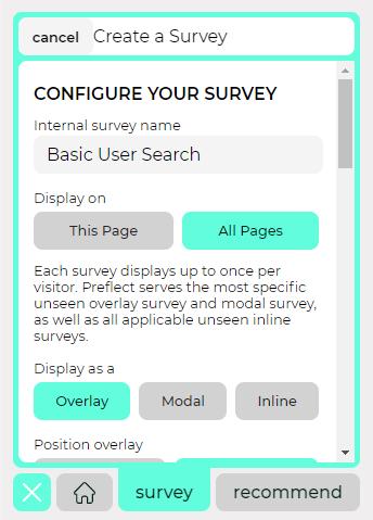Configuring a Preflect survey