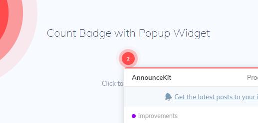 AnnounceKit's Count Badge Widget