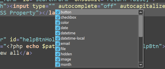 CodeLobster autocomplete for HTML