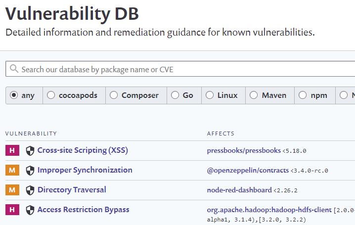 Snyk's Vulnerability Database
