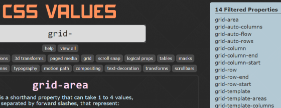 Filtered Menu on CSS Values