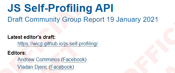 JS Self-Profiling API Spec