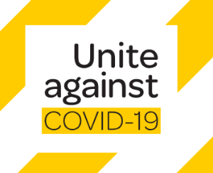 Image of Government logo 'Unite against COVID-19'.