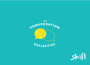 Image of Shift Foundation podcast logo 'The Conversation Collective'.