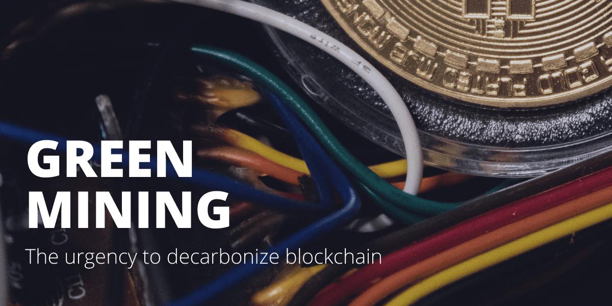 The urgency to decarbonize blockchain