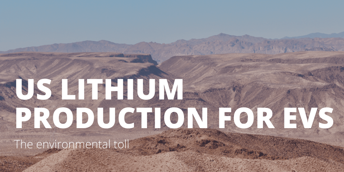 US lithium production for EVs