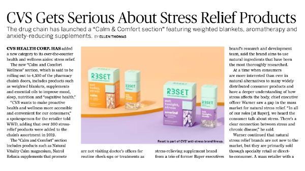Relieve and Refresh Crème-Balm Newspaper clipping