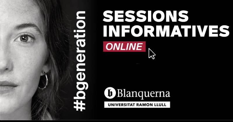 Sessions informatives online a Blanquerna