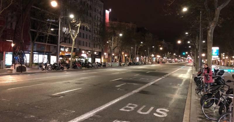 Els carrers de Barcelona, buits.