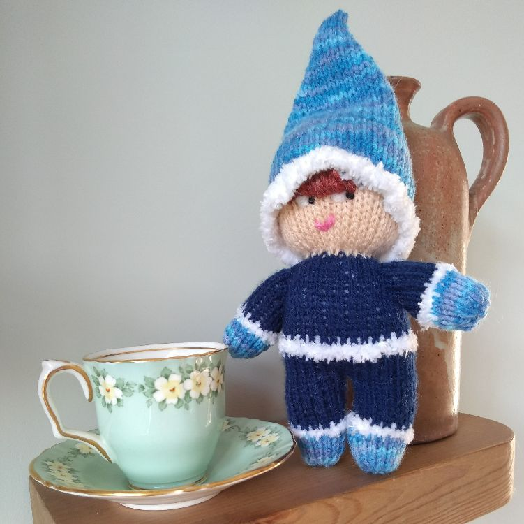 A knitted nystagmus elf.