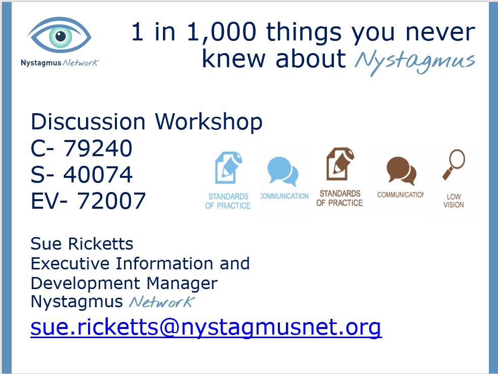 Screenshot from Sue's discussion workshop presentation for the AIO conference.