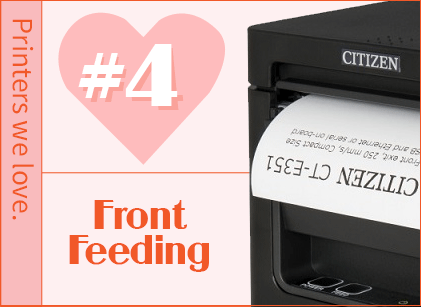 Front feeding receipt printer