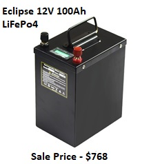 Eclipse 12V 100Ah LiFePo4 | Backwoods Solar