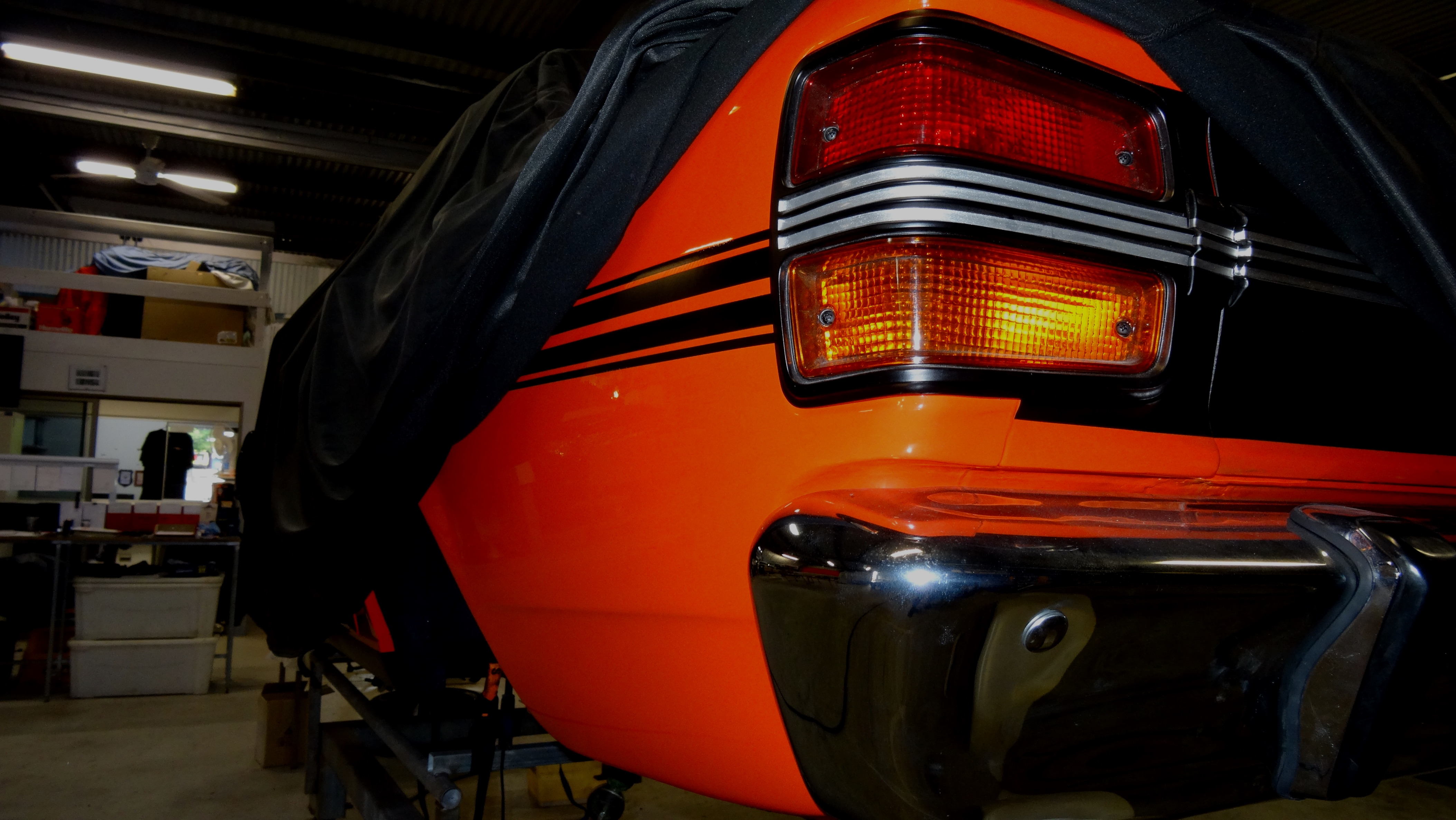 An XY Ford Falcon receiving restoration at Blackstar Autocare