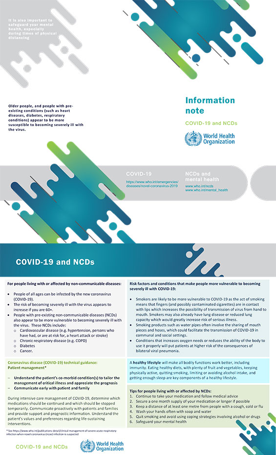 COVID-19 and NCDs
