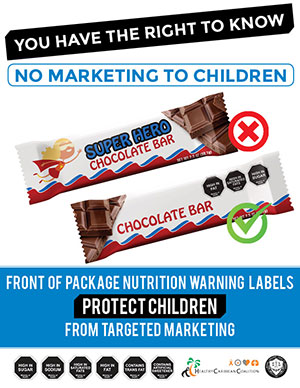 No marketing of unhealthy foods to children