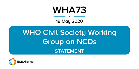 WHO Civil Society Working Group on NCDs Statement at the WHA73