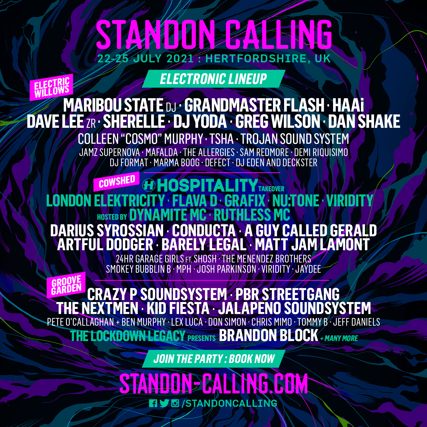 Standon Calling: Just Announced - Full Electronic Line Up! 2