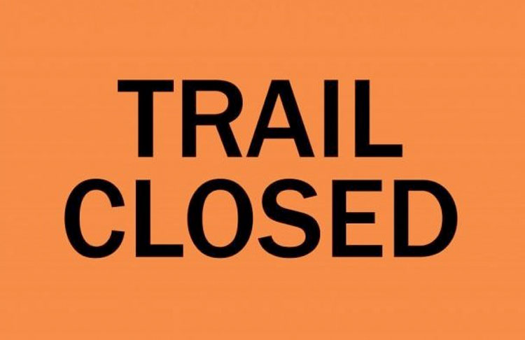 SNETT Trail Advisory - section by Prospect St closed