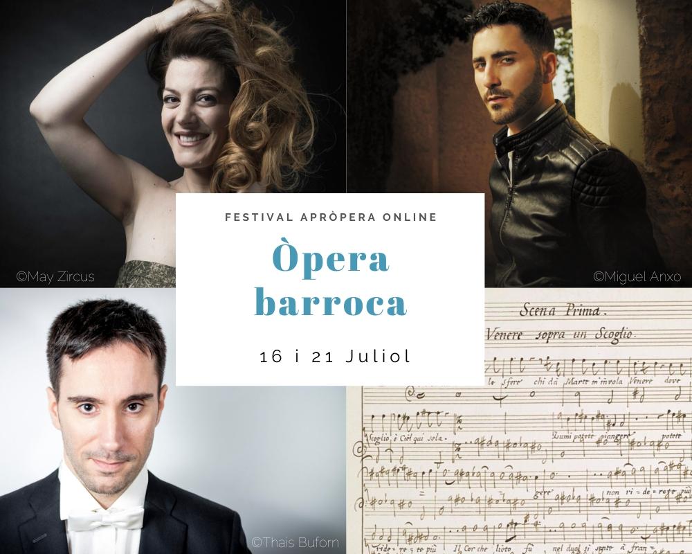 Cartell concert opera barroca maria hinojosa soprano victor jiménez contratenor josep buforn piano apropera