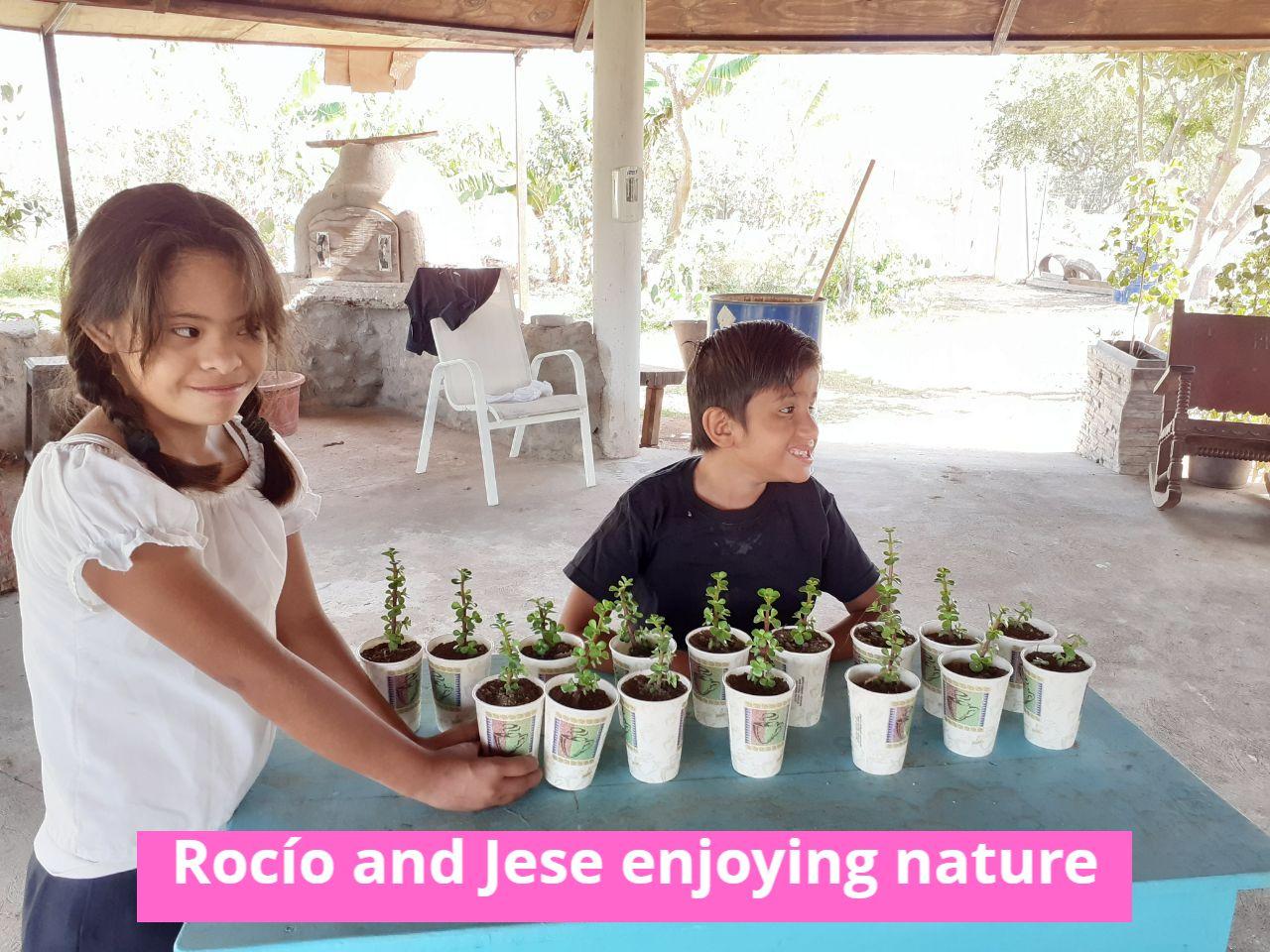 Rocio and Jese enjoying nature
