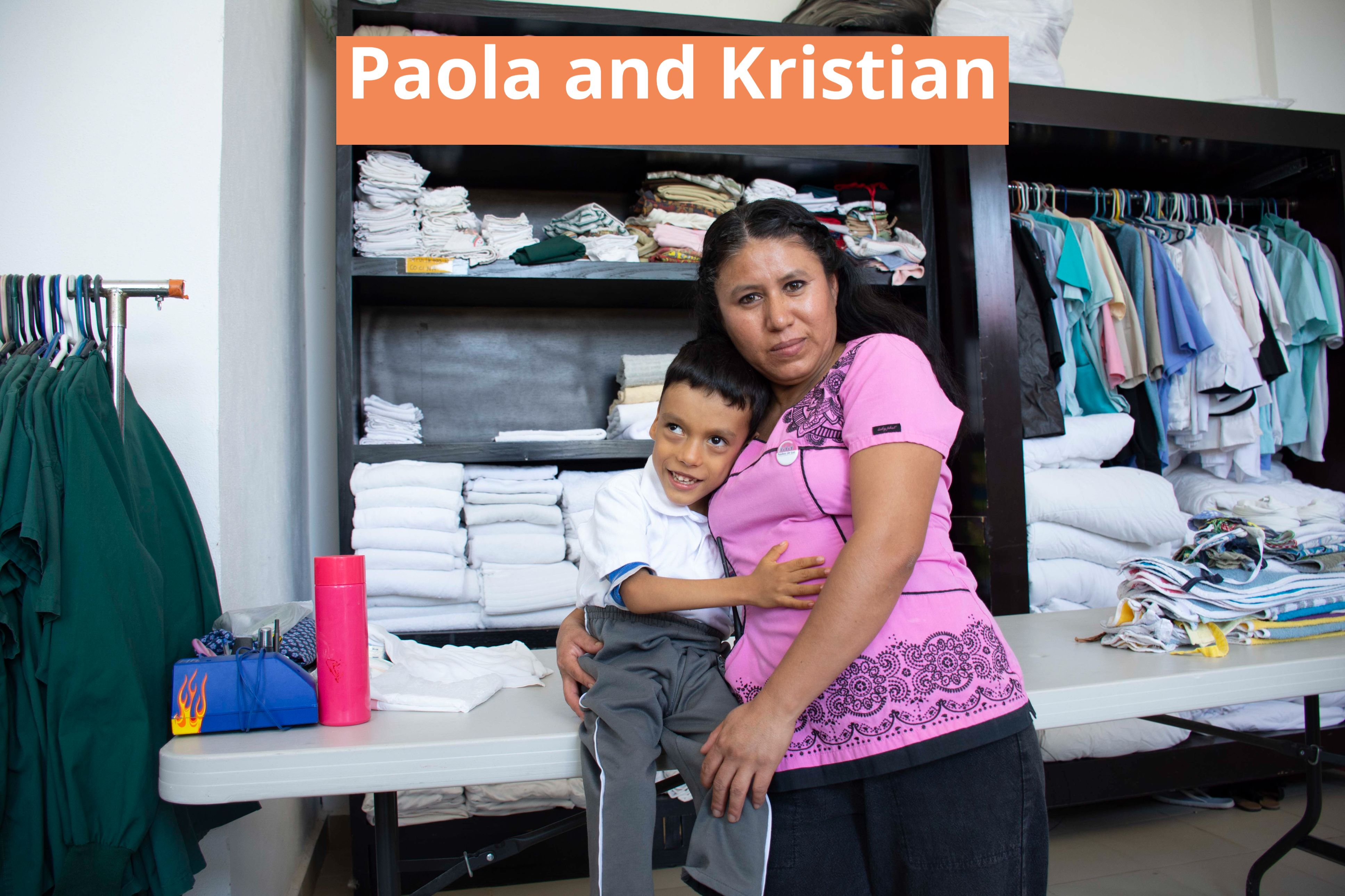 Paola and Kristian in the laundry