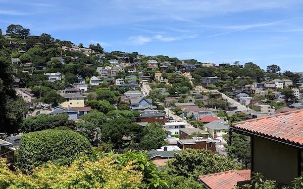 Sausalito hillside